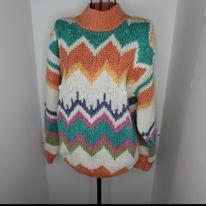 Vintage one step up hand knit sweater